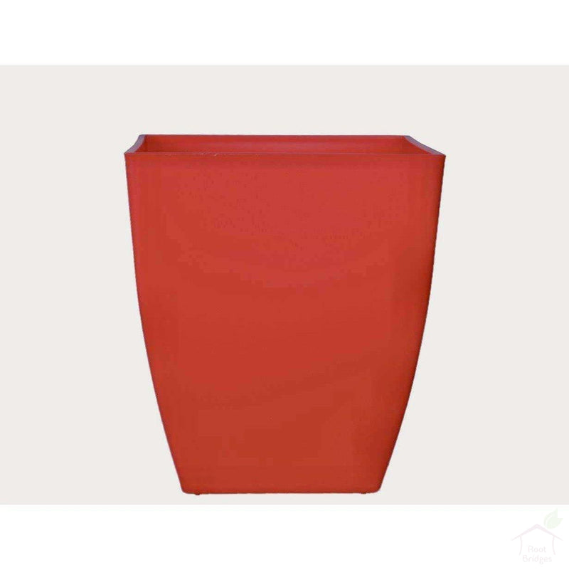 "Pots Red 4.7"" Square Container Pot"