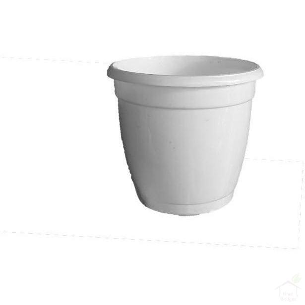 "Pots White 4.7"" Round Hermes Pot (Pack of 10)"