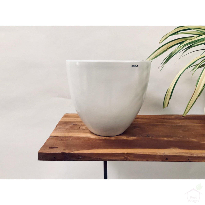 "Pots Large / White 9""-11.8"" Echoing Eternity (Slim) Ceramic Pots"