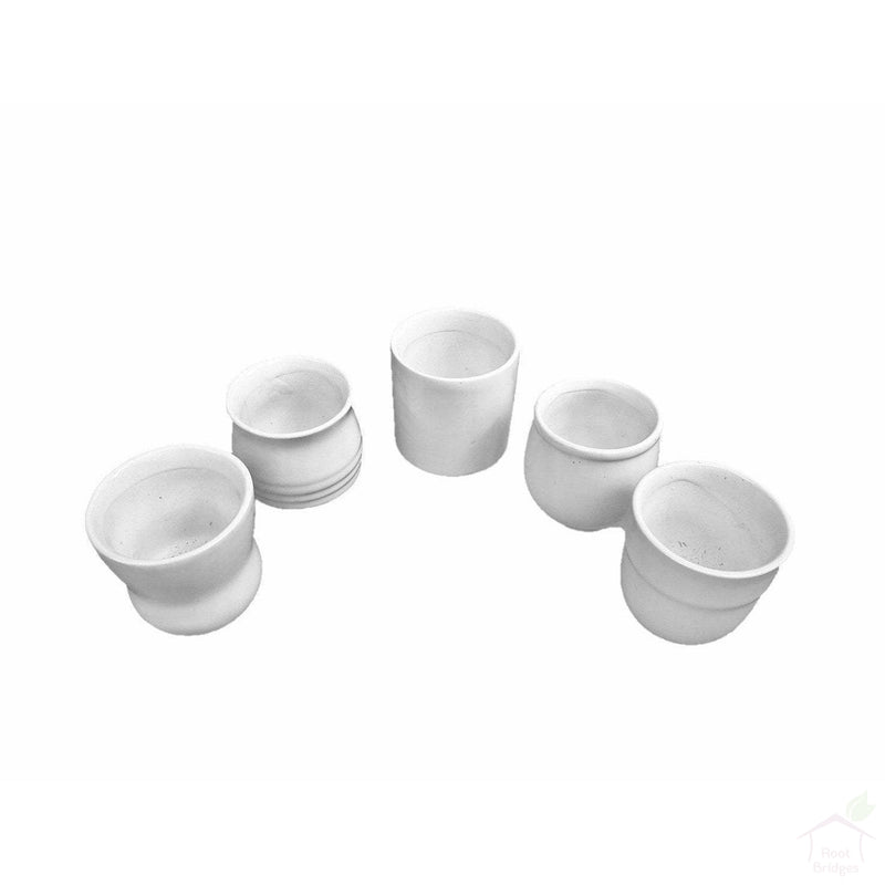 "Pots 2.5"" White Ceramic Succulent Pots (Pack of 3)"
