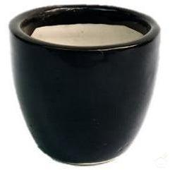 "Pots Black 3.5"" Mini Round Ceramic Pot"