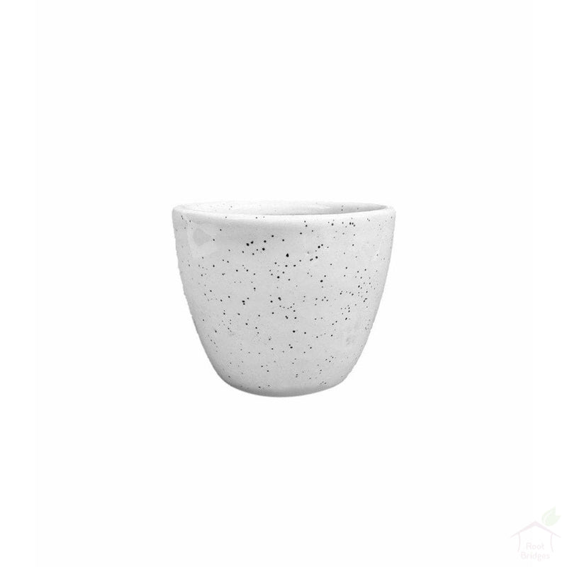 "Pots Dotted White 3.5"" Mini Round Ceramic Pot"
