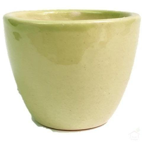 "Pots Green 3.5"" Mini Round Ceramic Pot"