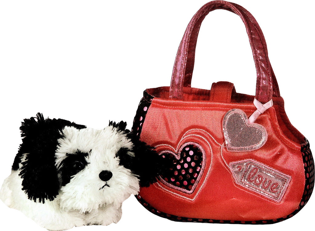 6077 - Murphy in Pink 'Love' Bag