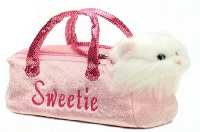 6085 - Cat in Pink Sweetie Bag - Tamarr Imports Innovative Giftware Pty Ltd