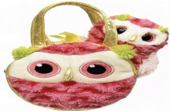 6093 - Fancy Pals Whohoot Owl in Whohoot Owl Bag - Tamarr Imports Innovative Giftware Pty Ltd