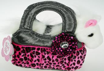 6094 - Pony in Black/Pink Shimmer Bag