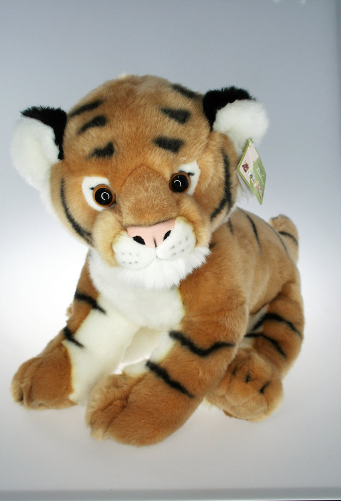 "B110481 - 12"" Sitting Bengal Plush Tiger - Gold"