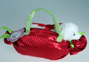 B09680A - Bear in Red Lolly Bag . TAMARR PRE CHRISTMAS SALE 50% OFF MINIMUM 48 ASSORTED