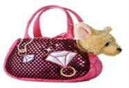 B32588 - Chihuahua in Pink Diamond Bag