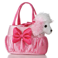 B32590 - Poodle in Pink Bow Bag - Tamarr Imports Innovative Giftware Pty Ltd