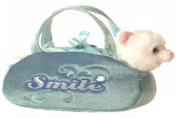 B32653 - Cat in Blue Smile Bag . TAMARR SALE 50% OFF MIN 24 ASSORTED