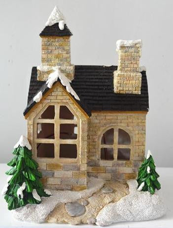 FD58 - Snowfall Solar Fairy House - *TAMARR SALE 50% OFF . BOXED QUANTITIES (2,3,4) 4 . MIN 12 ASSORTED