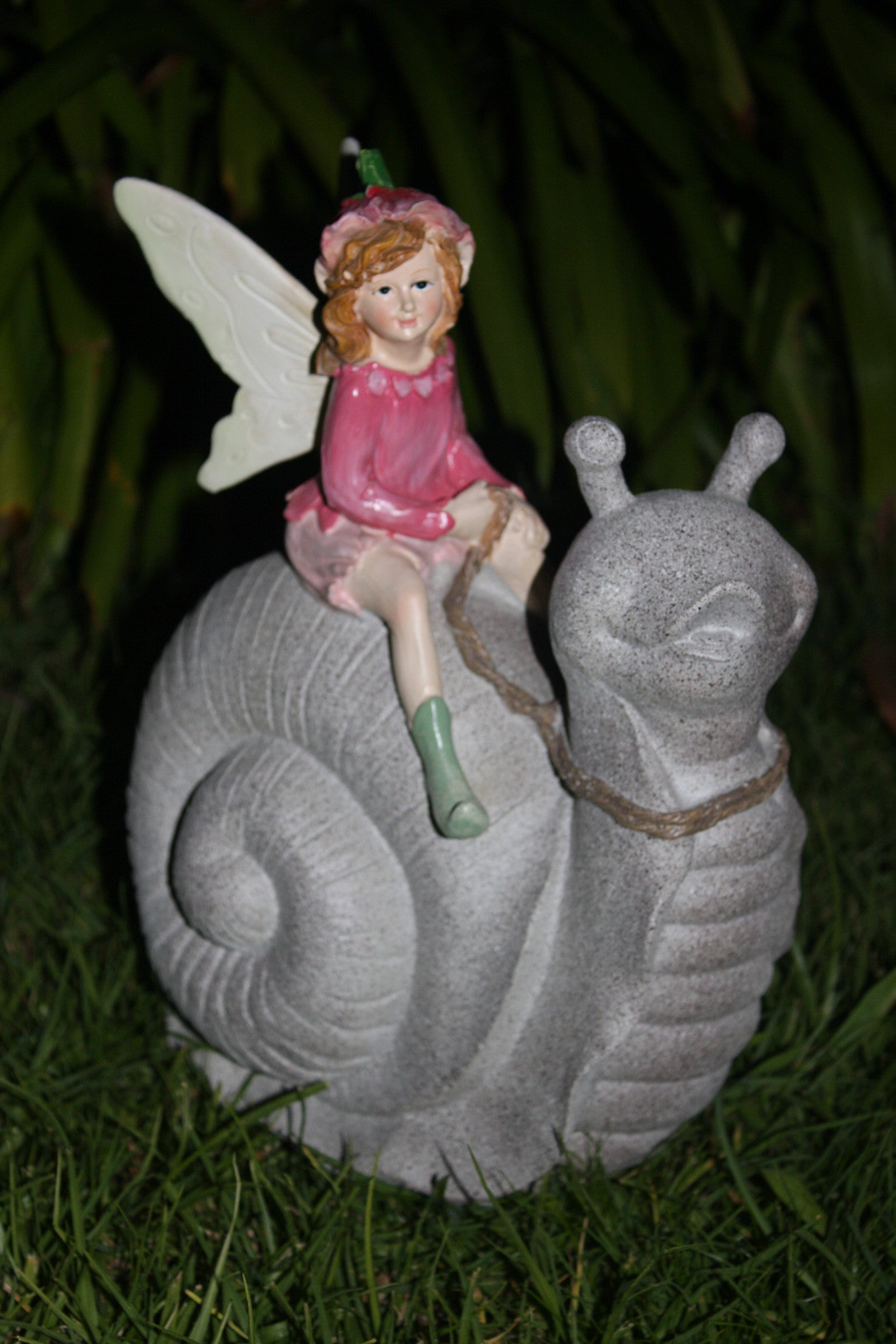 FD61 - Fairy Sitting on a Snail -  * SPECIAL 50% OFF LISTED PRICE