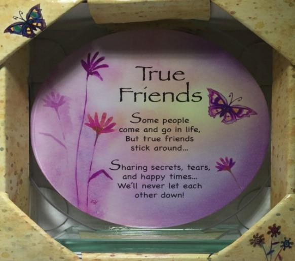 GW50 - GW55 - Treasured Sentiments Round Glass Plaques . TAMARR PRE CHRISTMAS SALE 60% OFF MINIMUM 24 ASSORTED