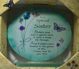 GW50 - GW55 - Treasured Sentiments Round Glass Plaques . TAMARR  SALE 60% OFF . Minimum 24 Assorted