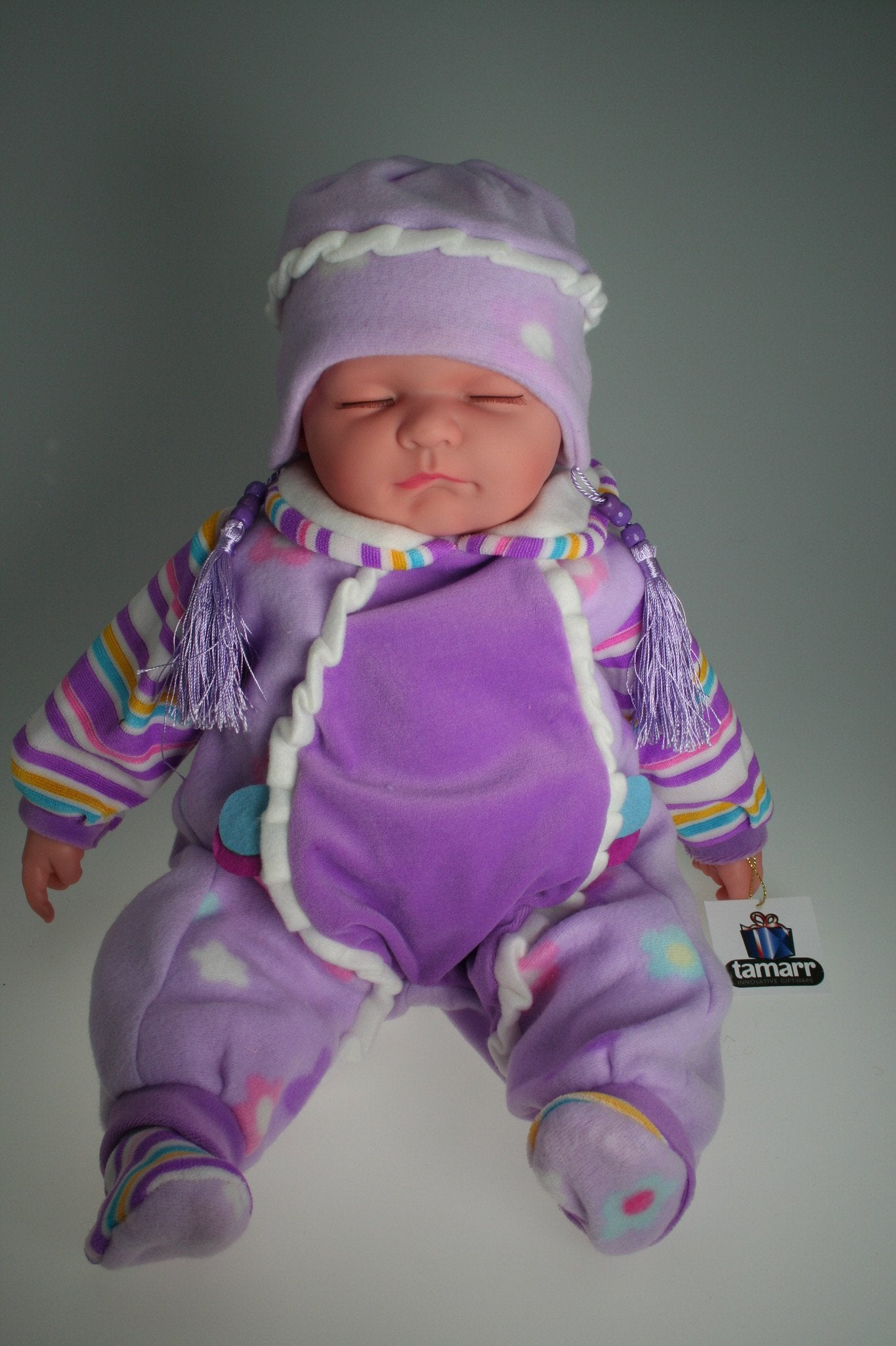 HA312 - Sleeping Baby Doll: Ashley - Tamarr Imports Innovative Giftware Pty Ltd