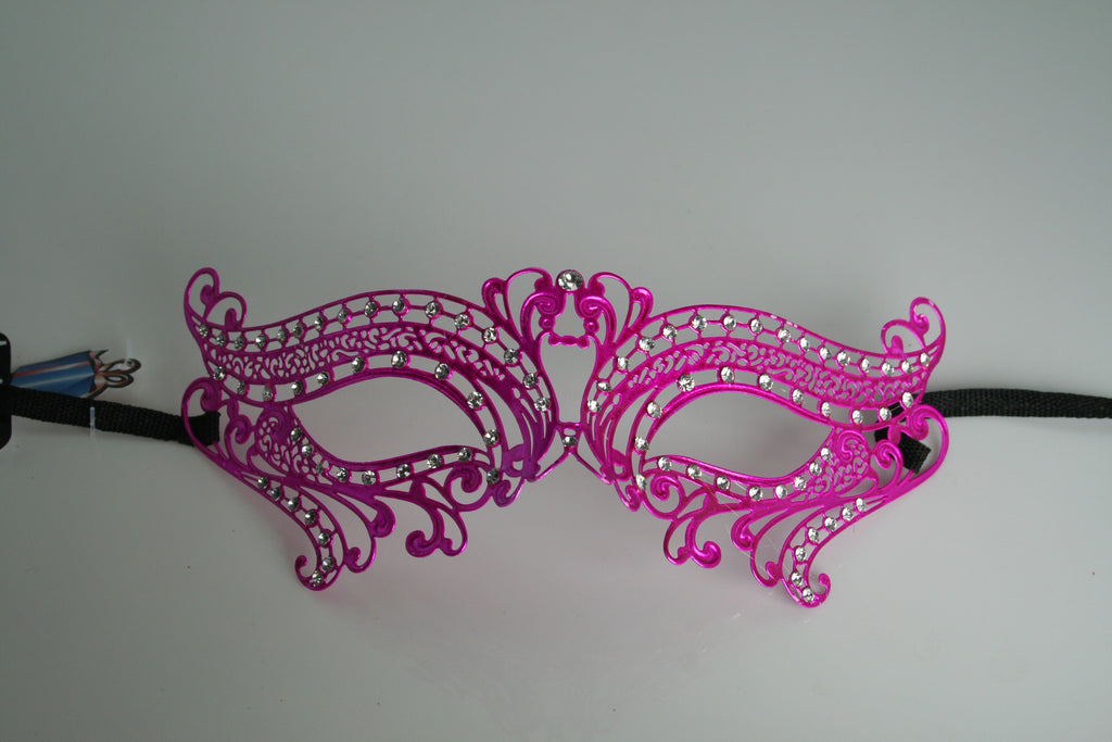 MK100 - Hot Pink Swan Mask with Diamantes