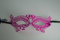 MK100 - Hot Pink Swan Mask with Diamantes -  CLEARANCE HALF PRICE OFF ORIGINAL PRICE
