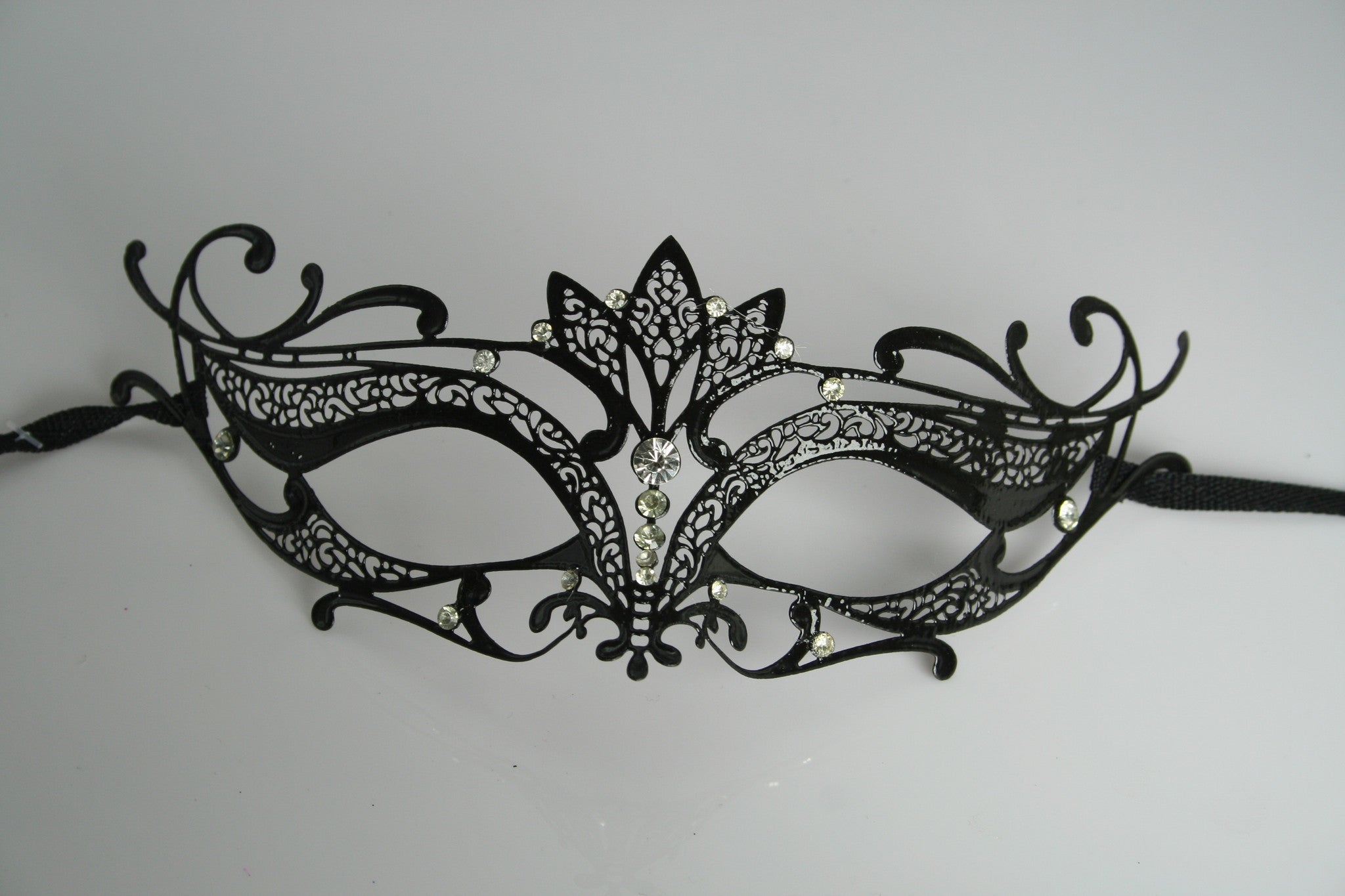 MK102 - Black Mask with Diamantes -  CLEARANCE HALF PRICE OFF THE ORIGINAL PRICE