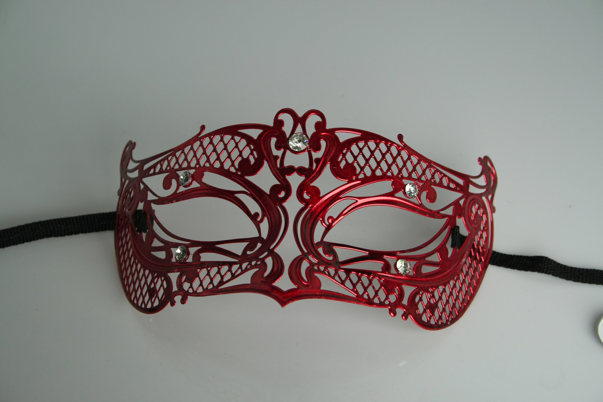 Red Mask with Diamantes - MK106 CLEARANCE HALF PRICE OFF ORIGINAL PRICE BELOW