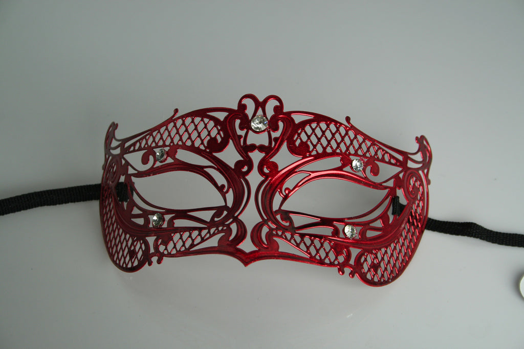 MK106 - Red Mask with Diamantes - TAMARR SALE  50% OFF