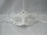 MK115 - White Deco Mask  ALL MASKS 50% OFF PRICE BELOW