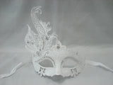 MK116 - White Mask with Diamante & Metal Design - Tamarr Imports Innovative Giftware Pty Ltd