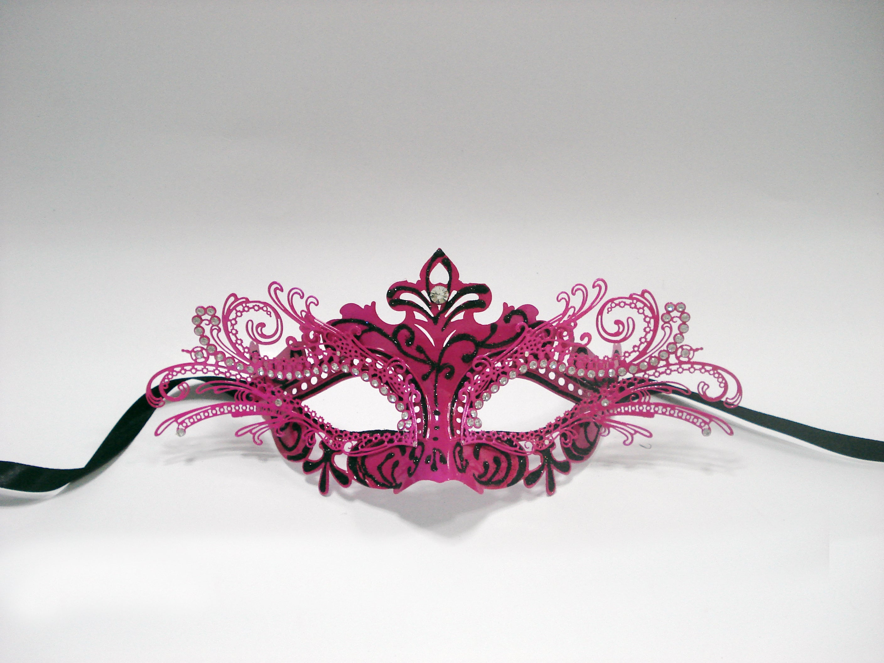 MK125 - Pink & Blk Mask -CLEARANCE 50% OFF LISTED PRICE