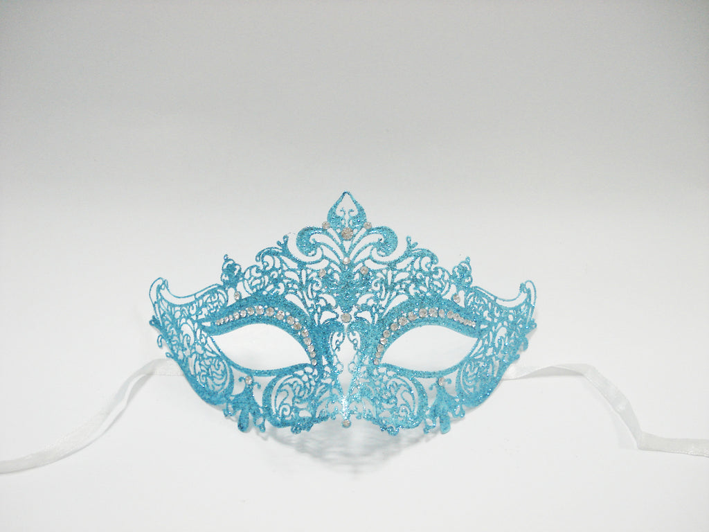 MK127 - Skyblue Glitter Mask -  TAMARR SALE  50% OFF