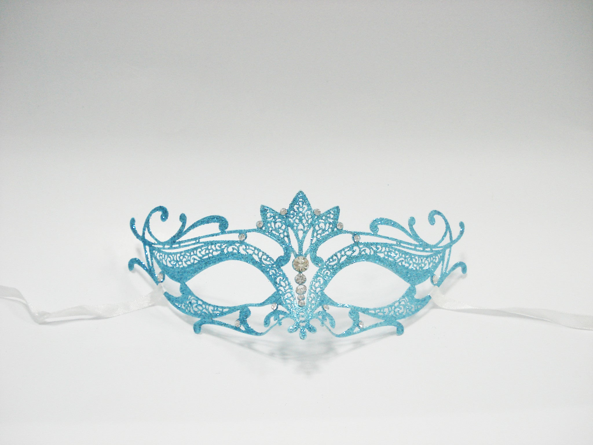 MK128 - Skyblue Swan Glitter Mask - Tamarr Imports Innovative Giftware Pty Ltd