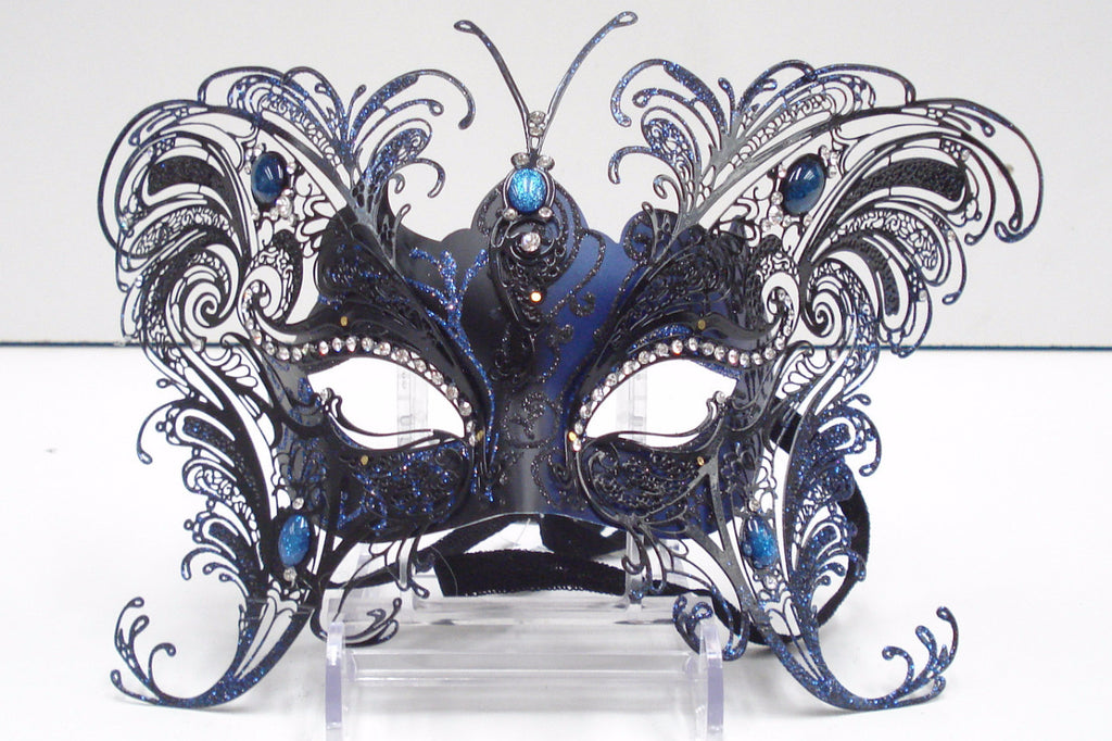 MK64 - Large Black/Blue Butterfly Mask -  TAMARR SALE 50% OFF
