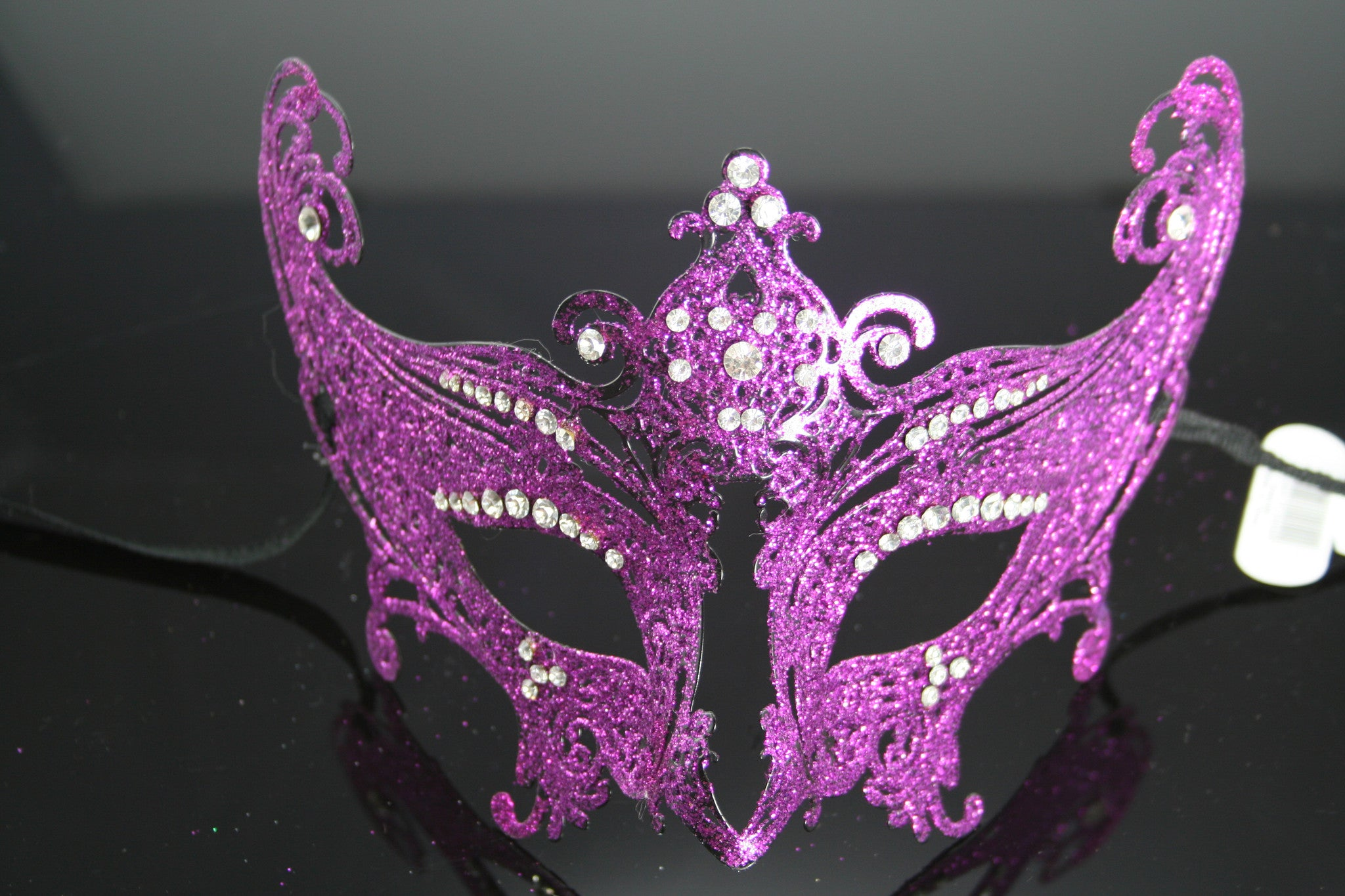 MK66 - Purple Metal Mask with Diamantes - CLEARANCE 50% OFF LISTED PRICE