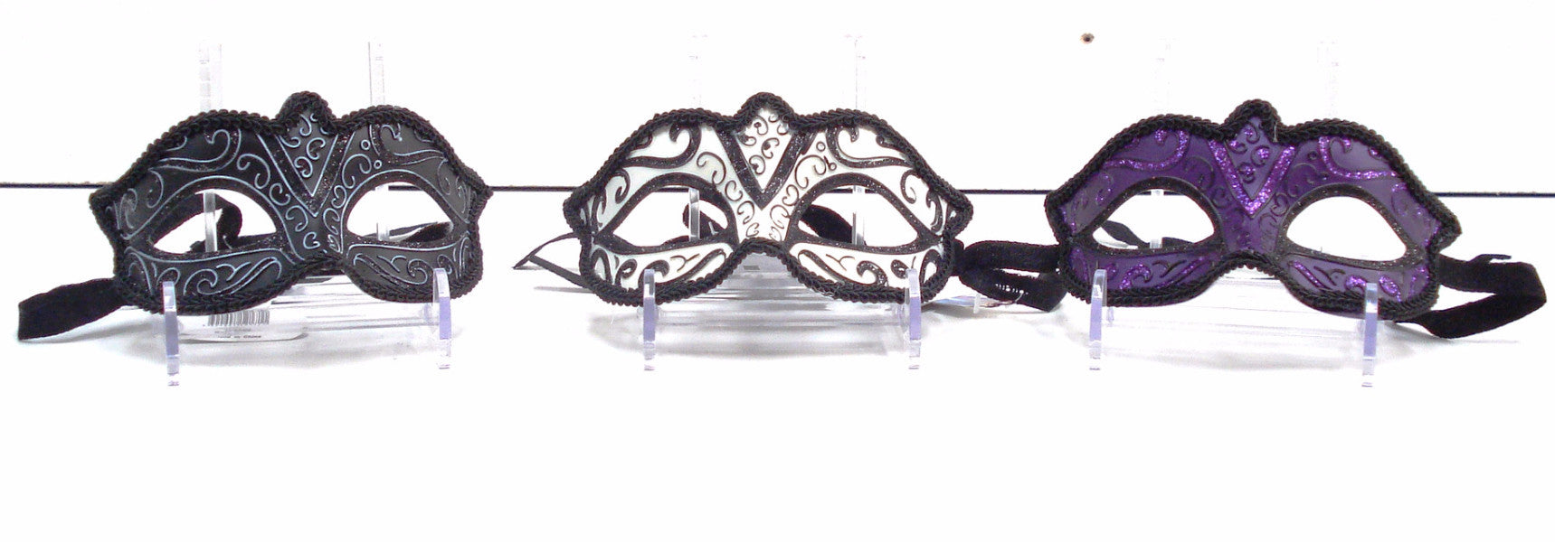 MK75 - Set of 3 Assorted Masks - Black/White/Purple -CLEARANCE HALF PRICE OFF ORIGINAL PRICE BELOW PER SET