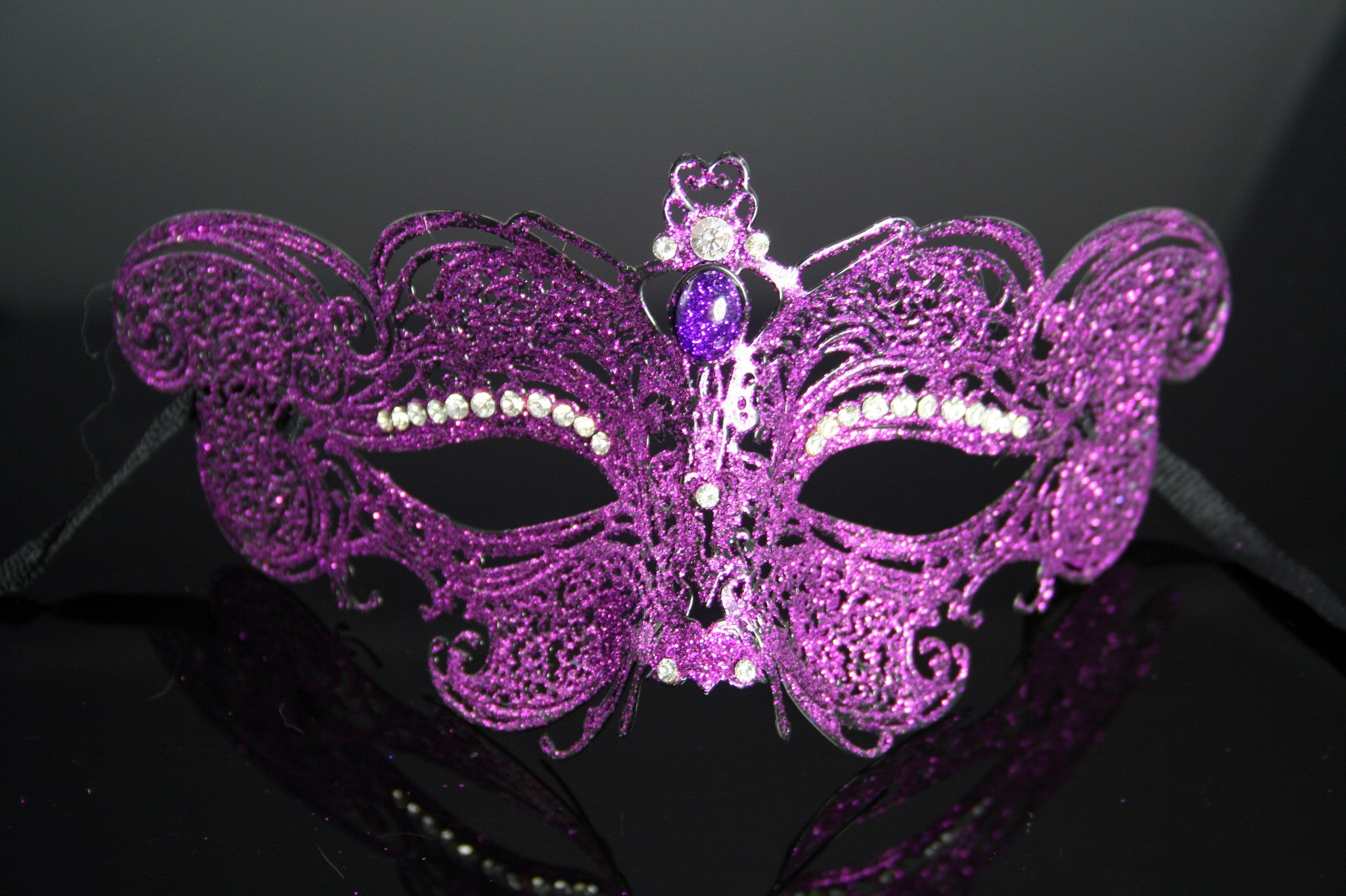 MK86 - Purple Metal Mask with Diamantes - Tamarr Imports Innovative Giftware Pty Ltd