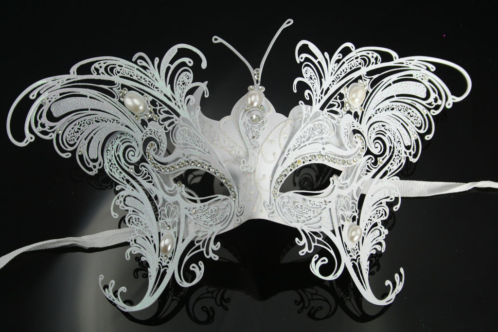 MK90 - White Butterfly Mask -  TAMARR SALE 50% OFF