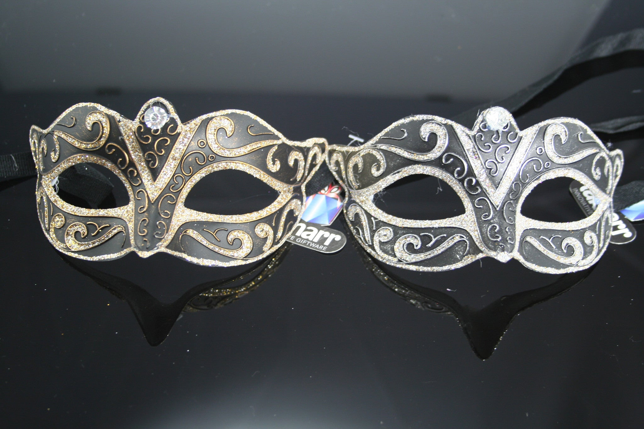 MK95 - Set of 2 Gold/Silver Masks -  CLEARANCE 50% OFF LISTED PRICE SOLD AS SETS ONLY