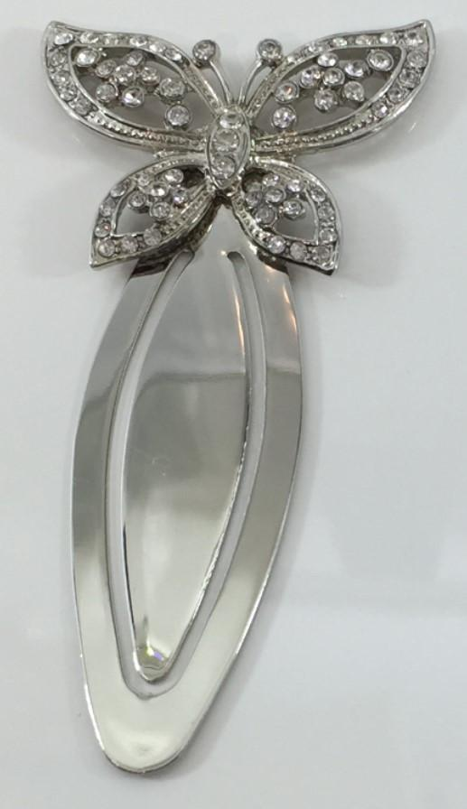 NP65 - Butterfly Bookmark with Diamantes -  *  TAMARR  SALE 70% OFF . MIN 24 ASSORTED