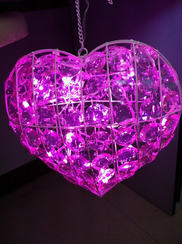 F . SR26 - Heart Shape Pink LED Lamp , * TAMARR SALE 70 % OFF .