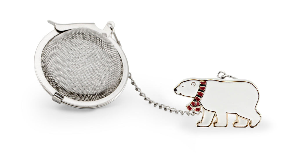 Tea Infuser Christmas Polar Bear Silver