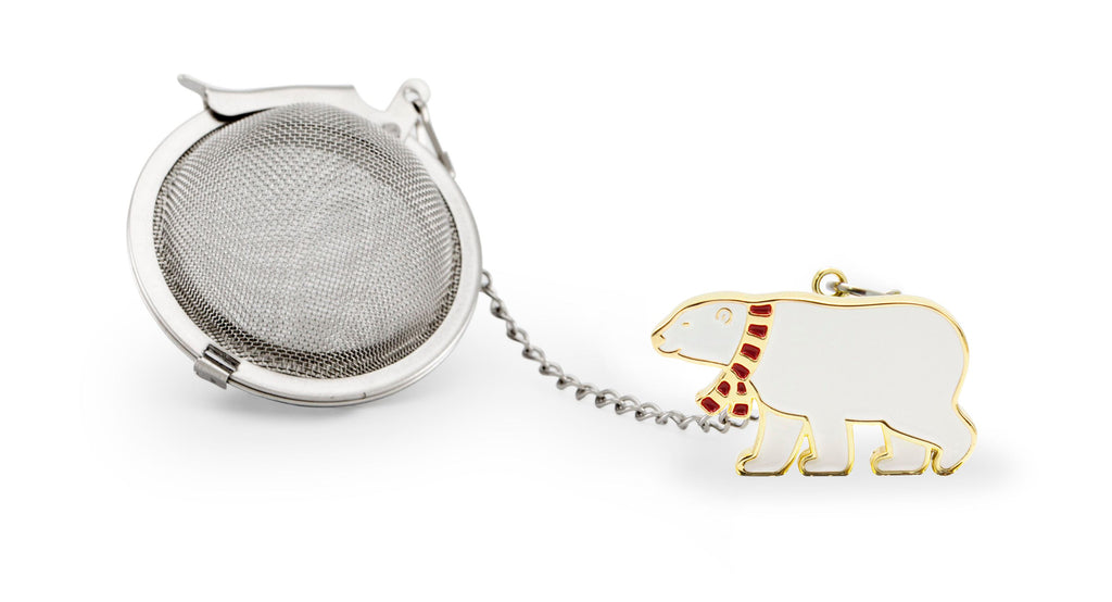 Tea Infuser Christmas Polar Bear Gold