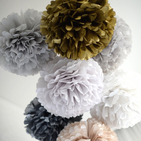 Metallic pompoms