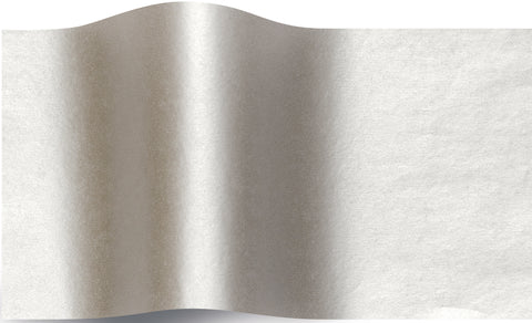Double sided Metallic silver tissue paper 70x50cm - 10 sheets