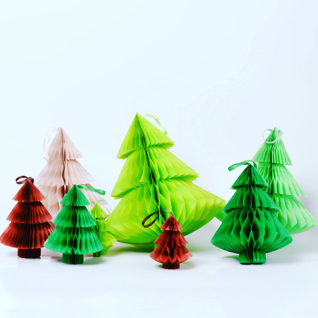 New Christmas tree - Paper Honeycomb  - custom color - 10