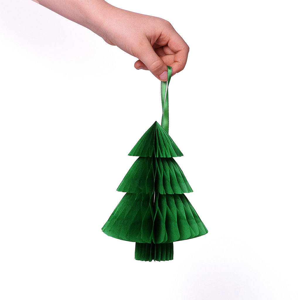 Contemporary paper honeycomb Christmas tree decoration