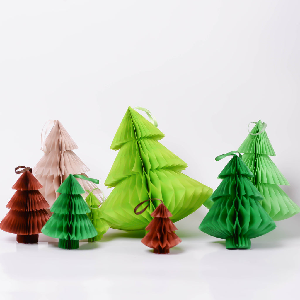 New Christmas tree - Paper Honeycomb  - custom color - 12