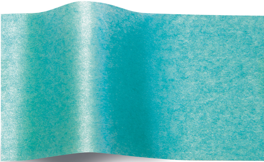 Shimmery Bright Turquoise Pearlesence tissue paper 70x50cm - 10 sheets