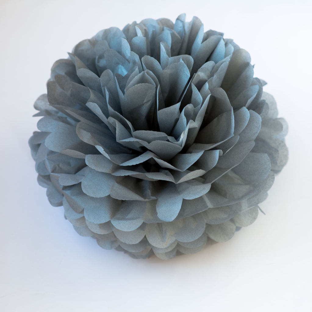 Large size dark grey tissue paper pom pom