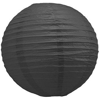 12 Inch Black Round Lantern with LED light / no led light - Decopompoms - party decoration boutique