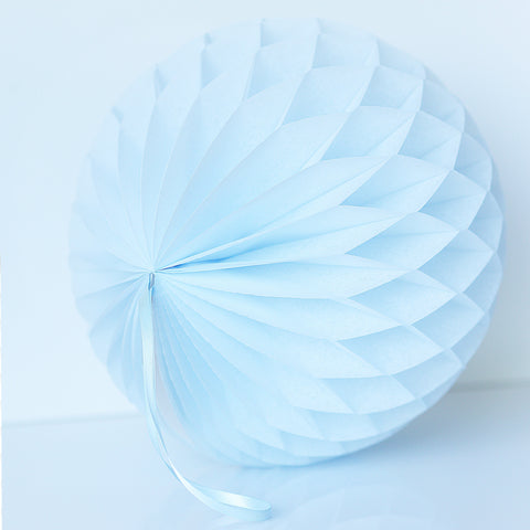 Breeze blue  paper honeycomb - hanging party decorations